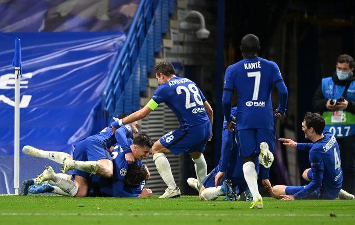 Chelsea viert de tweede goal.
