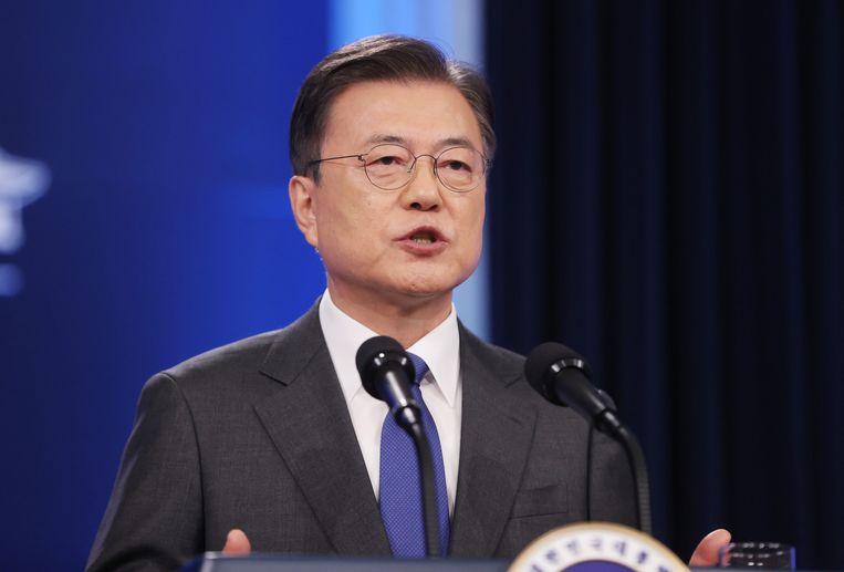 De Zuid-Koreaanse president Moon Jae-in vindt het 'tijd om actie te ondernemen'. Beeld REUTERS