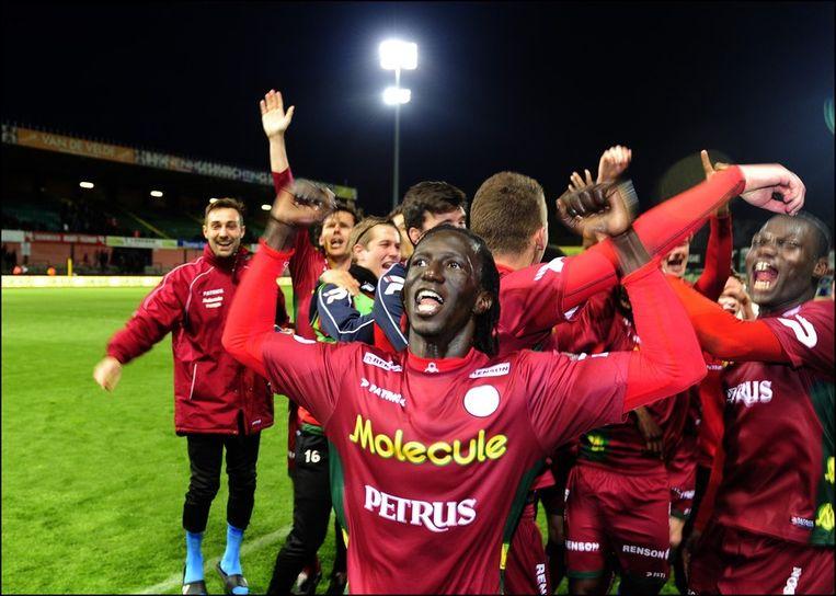 Francky Dury en zijn Zulte Waregem doen twee speeldagen voor het einde nog mee voor de titel Beeld PHOTO_NEWS