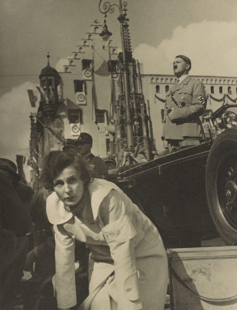 Leni Riefenstahl en Adolf Hitler, Neurenberg 1934. Beeld Hollandse Hoogte / Everett Collection, Inc.