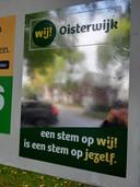 De verkiezingsposter van WIJ! Oisterwijk oogt als een spiegel