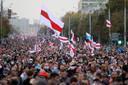 Eind september kwamen er nog tienduizenden mensen af op de demonstraties tegen president Loekasjenko.