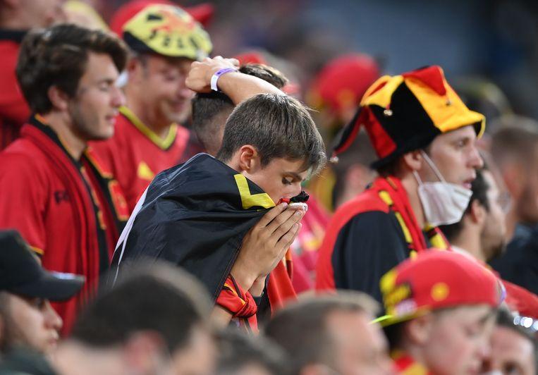 De teleurstelling is groot bij de Belgen. Beeld Pool via REUTERS