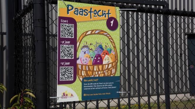 Op zoek naar de Paashaas met KWB Kwatrecht en QR codes