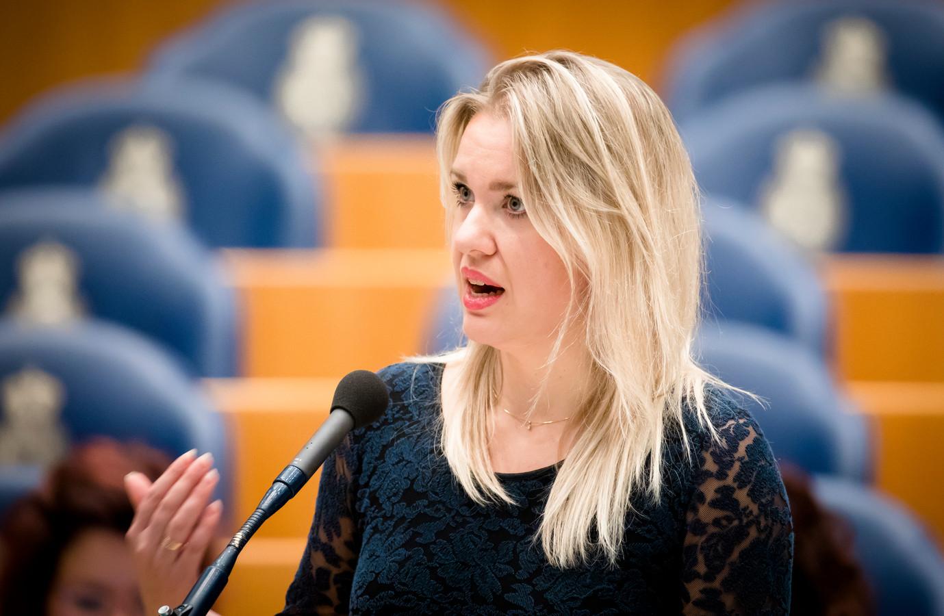Femke Merel van Kooten tijdens de behandeling van de begroting van Binnenlandse Zaken en Koninkrijksrelaties in de Tweede Kamer.
