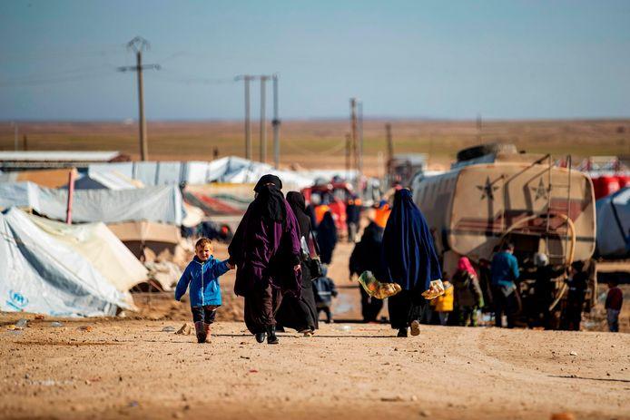 De nombreux enfants se trouvent actuellement dans le camp d'Al-Hol, dans le nord-est de la Syrie.