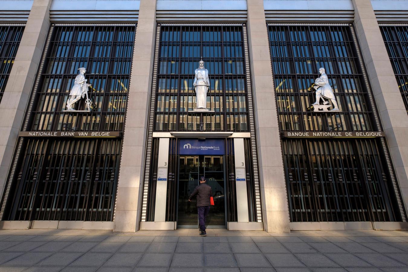 La Banque nationale de Belgique, à Bruxelles.