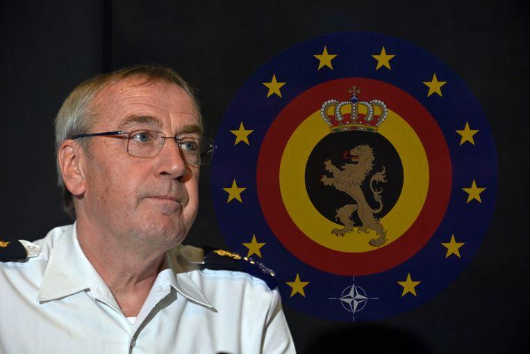 Michel Hofman, de stafchef van het Belgisch leger. Beeld BELGA