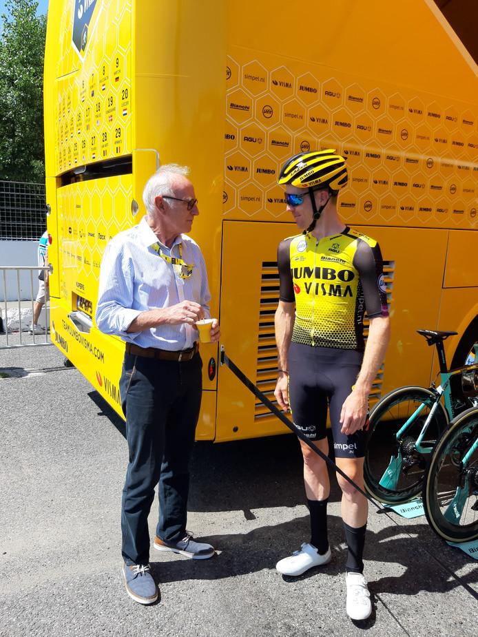 Joop Zoetemelk en Steven Kruijswijk.