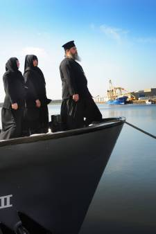 Georgisch-orthodoxe kerk op schip in Vlissingse haven