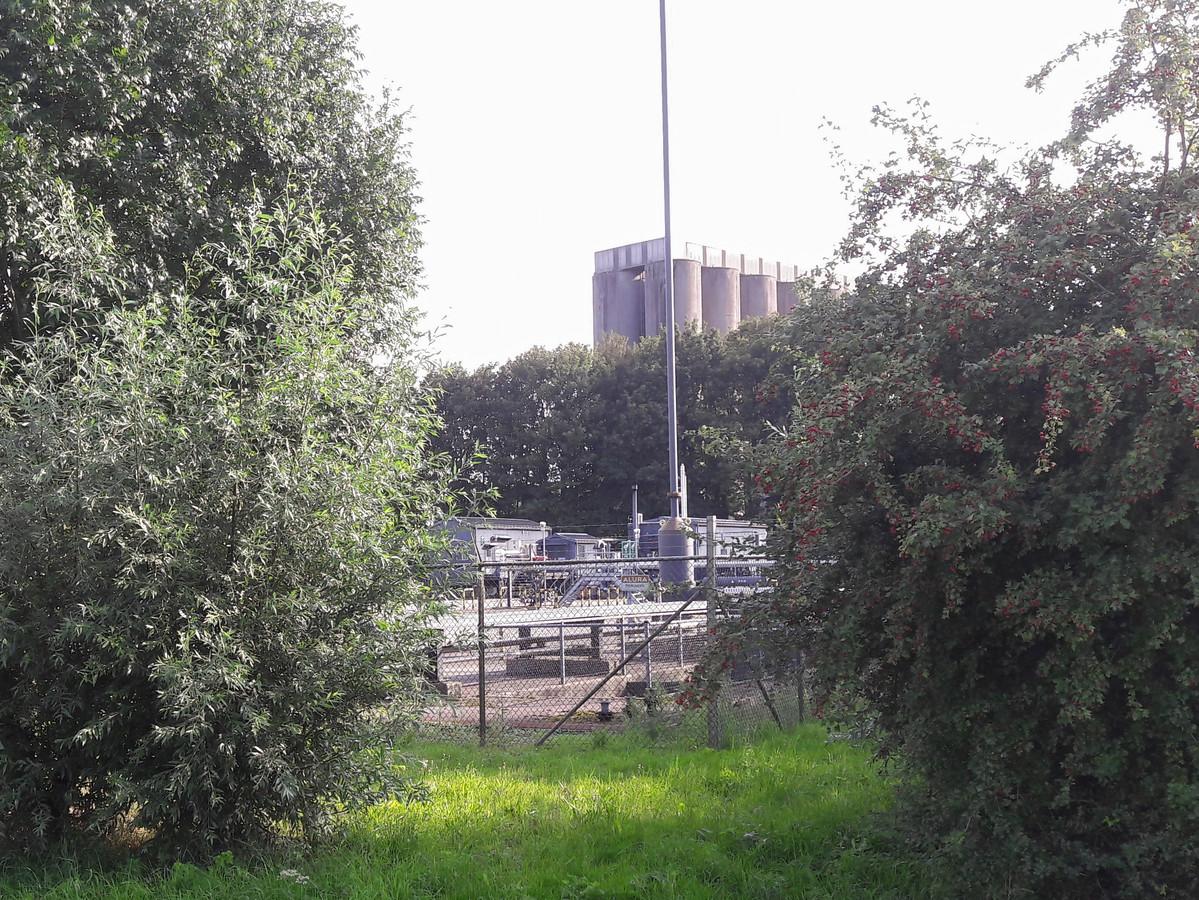 De gasinstallatie in het Munnikenland bij Poederoijen. STOCK