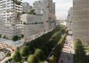 De Fellenoord in Eindhoven moet volgens het plan Internationale Knoop XL een groene boulevard worden.