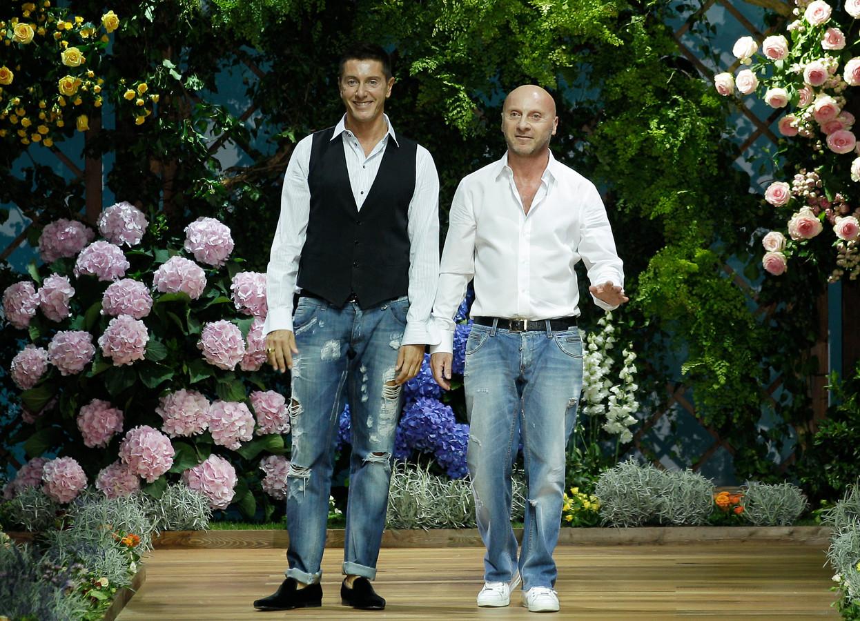 Domenico Dolce (rechts) en Stefano Gabbana.