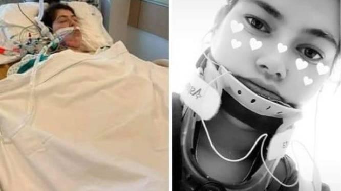 """Lisa (21) ontwaakt uit coma na zware botsing en mag ziekenhuis verlaten: """"Ik weet niets meer van het ongeluk"""""""