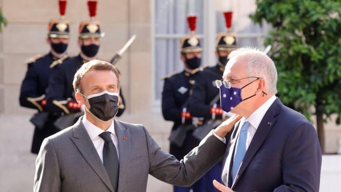 Macron negeert telefoontje van Australische premier na misgelopen deal rond onderzeeërs
