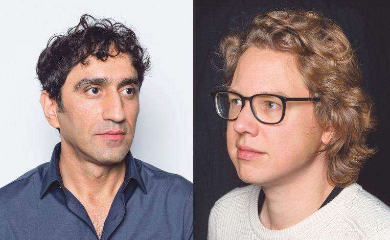 Hawar Tawfiq (links) en Hannes Minnaar (rechts) Beeld Jörgen Caris