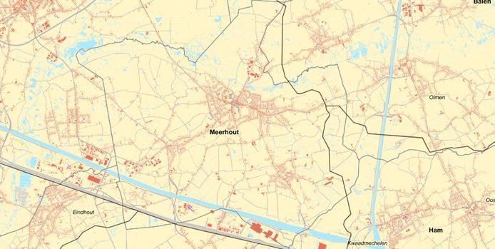 De drie mogelijke tracés lopen allemaal door Meerhout, de ene al langer dan de andere. Eén tracé is te vinden in het oosten, de twee andere in het zuiden bij de E313.