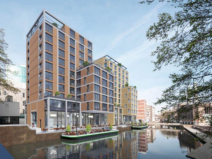 Zo komt de nieuwbouw aan de Westewagenstraat in Rotterdam er uit te zien.