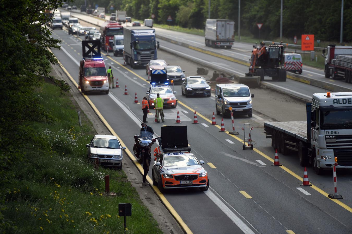 Het ongeval gebeurde ter hoogte van de afrit Holsbeek op de E314.