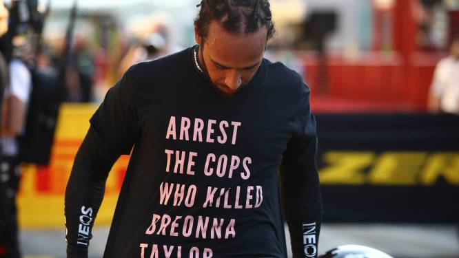 """""""Geen onderzoek naar T-shirt Lewis Hamilton"""""""