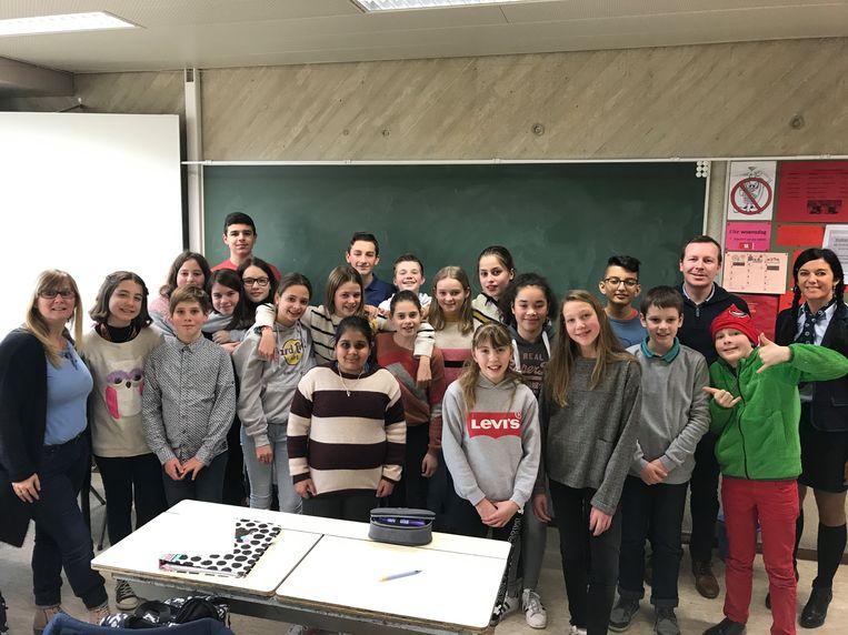 In Sint-Andreas mochten de leerlingen voor één keer in hun kledij van keuze naar school komen.