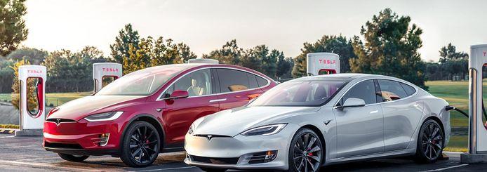Tesla Model X en Model S.