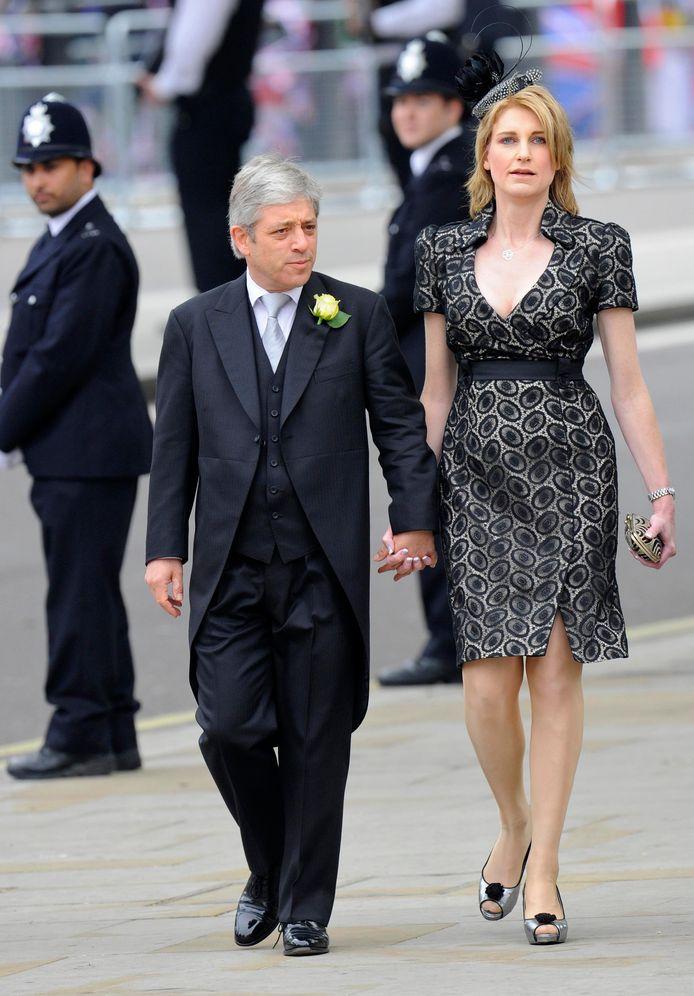 Bercow met zijn echtgenote Sally.