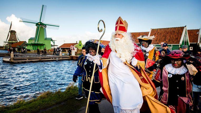 In 2017 bezocht Sinterklaas de Zaanse Schans ook al. Beeld anp