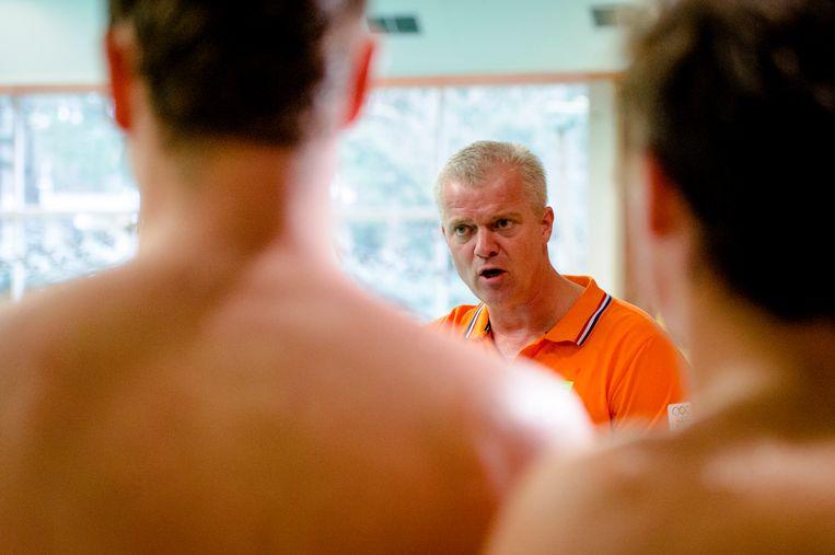 Robin van Galen, bondscoach van de waterpolomannen. Beeld ANP