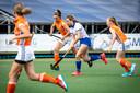 EHV (in het oranje) kwam onlangs in actie tegen Bully, tijdens een oefenwedstrijd in Oldenzaal.