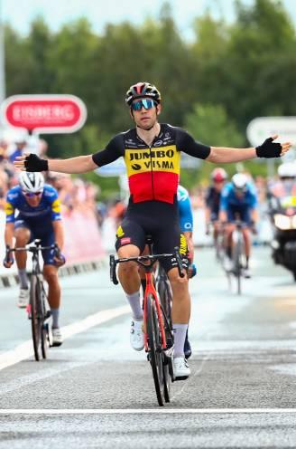 Wout van Aert troeft grote namen af in sprint en wint zesde etappe Tour of Britain