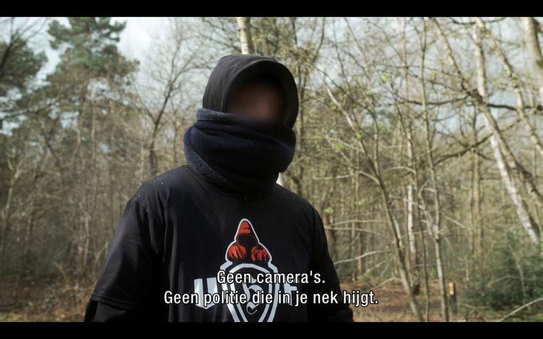 Zloty in de documentaire 'Bosvechters: Utrecht Hooligans Forever' Beeld Videoland