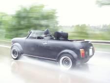 Hoe snel moet je rijden in een cabrio om droog te blijven?