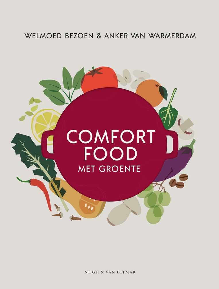 Comfortfood met groente. Welmoed Bezoen & Anker van Warmerdam. Nijgh Cuisine. € 32,50 Recept pagina 92-93 Bonenstoof met zuurkool en rouille  Beeld RV