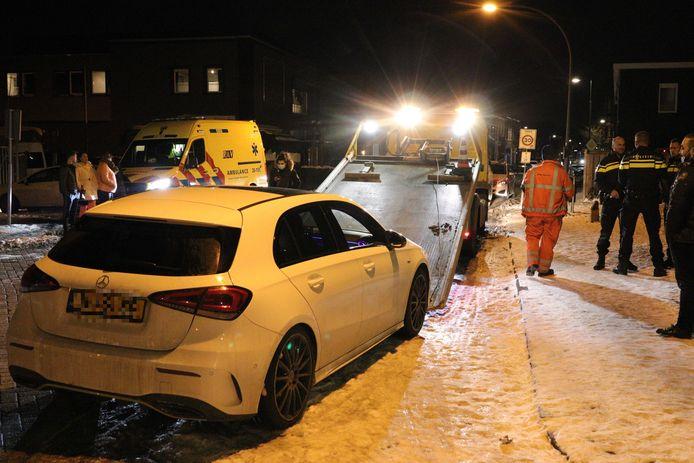 De aanrijding gebeurde op de St. Antoniusstraat in Waalwijk.
