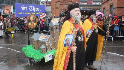 FOTO Carnaval Aalst: Sint-Theo, de tranen van Joke, chocomousse en de anticonceptie van Sarah Smeyers