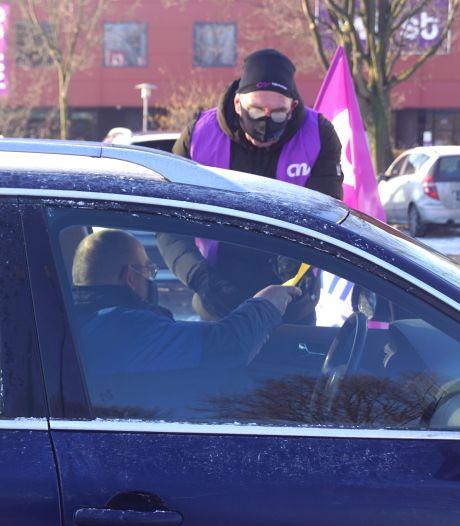 Drive-through-staking bij Voestalpine in Bunschoten