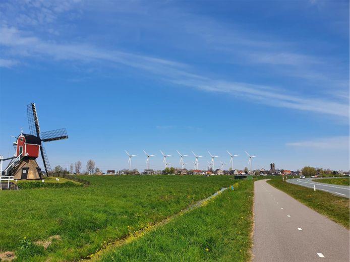 Windmolens bij Hoogmade, zo zou het eruit komen te zien.