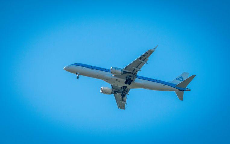 Een KLM-vliegtuig.