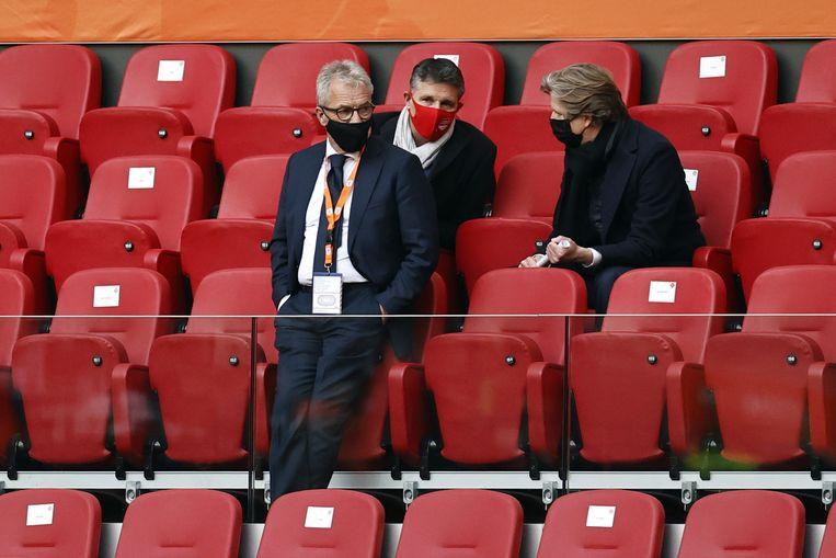 KNVB algemeen directeur Eric Gudde tijdens de WK-kwalificatie wedstrijd tussen Nederland en letland.  Beeld ANP