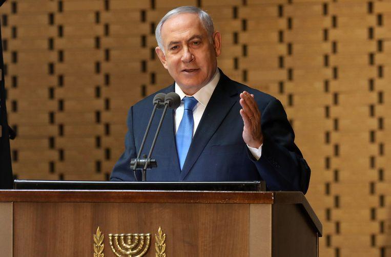 De Israëlische premier Benjamin Netanyahu. Beeld Hollandse Hoogte / AFP
