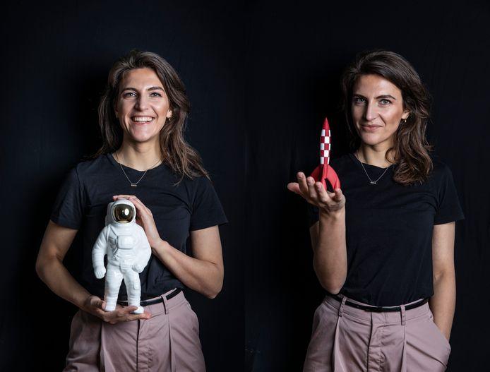 Anna Gimbrère (35) is wetenschapsjournaliste en presentatrice. Nu wil ze zelf ook graag astronaut worden. De sollicitatie gaat binnenkort de deur uit naar de Europese ruimtevaartorganisatie ESA.