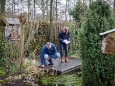 Staphorsters tellen beestjes in eigen tuin