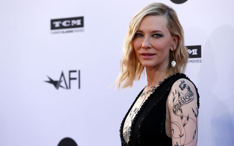Cate Blanchett op de rode loper van de Life Achievement Awards in Los Angeles op 7 juni 2018.