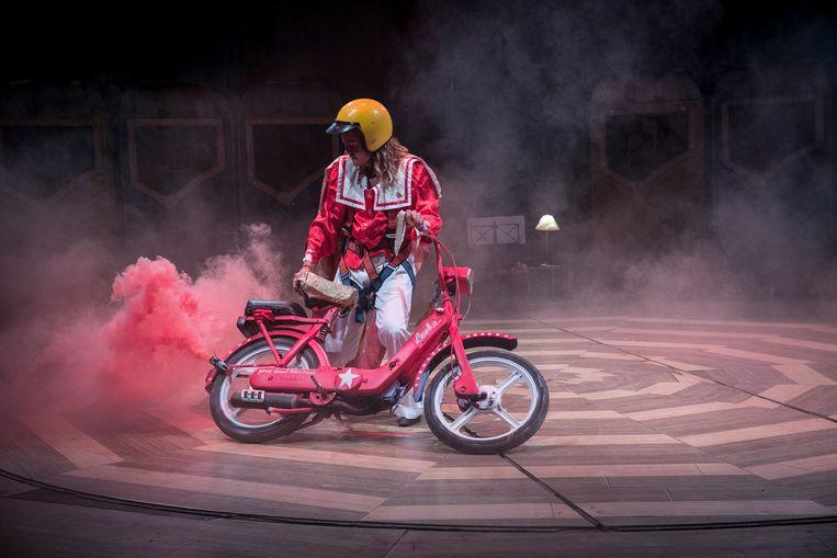 Leoke van Geffen in The Stuntshow. Beeld Amaury Miller
