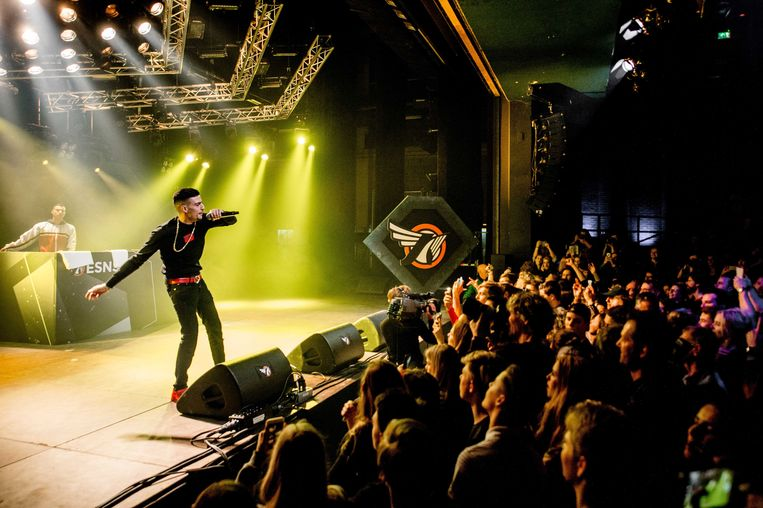 Er is een Belgisch publiek voor Nederlandstalige muziek. Anders zou het niet storm lopen voor shows van artiesten als Boef, hier tijdens Noorderslag in Groningen. Beeld ANP