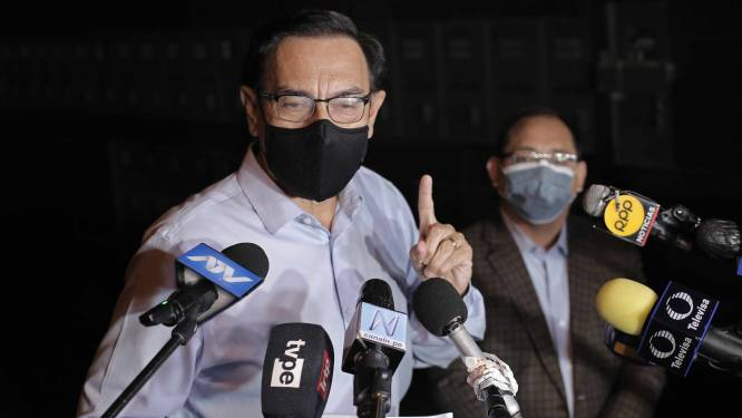 Peruaanse ex-president uit ambt ontzet omdat hij voorstak voor vaccinatie