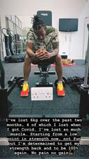 De post van Lewis Hamilton op Instagram Stories.