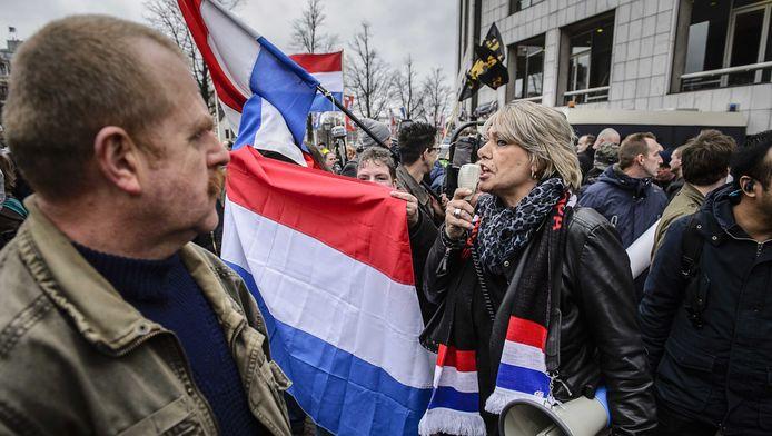 Pegida demonstreerde op 6 februari voor de Stopera tegen de islamisering van Europa.