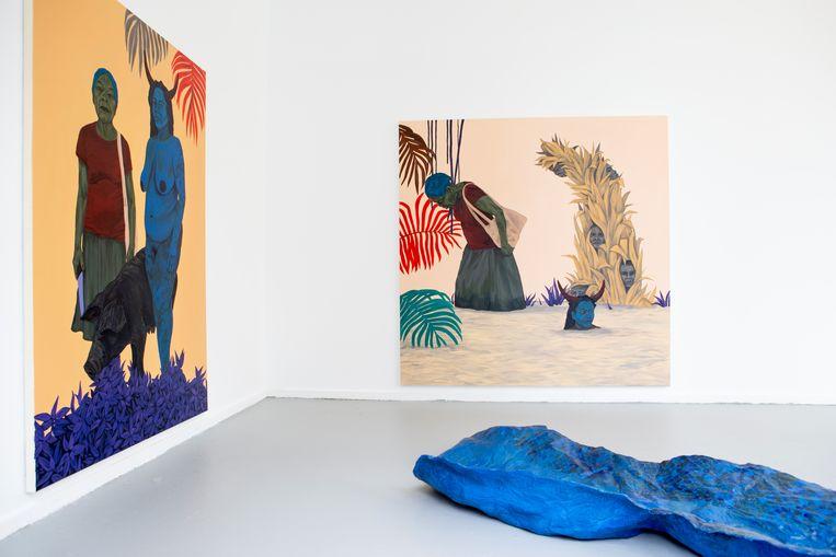 Werk van Tessa Mars in de Rijksakademie in Amsterdam.  Beeld Pauline Niks